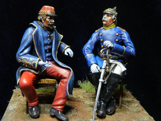 Napoléon III et Bismarck à Donchery (Peinture) par BONO (FINI) P1060514