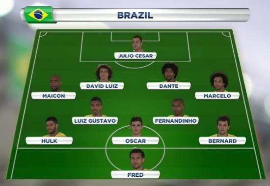 Semi-Final: Brazil v Germany Bra10