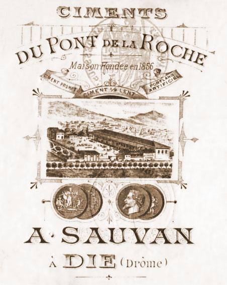 Dept:26 Drôme Ciments A. Sauvan  à Die   Die_ci10