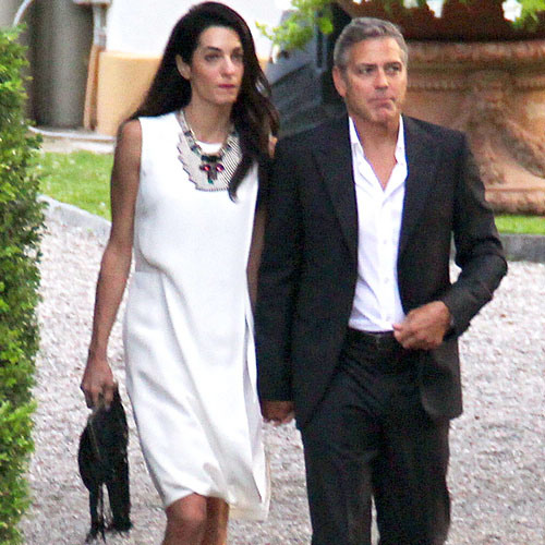Photos surface of Clooney and Amal scouting wedding venues at Lake Como Ven10110
