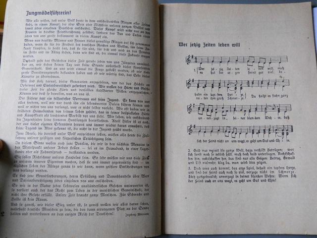 Collection Dorn,en vrac,Hitlerjugend et Bund Deutscher Mädel ... Livret12