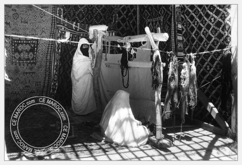 Fez : exposition d'artisans, tapis et broderie. 03-19111