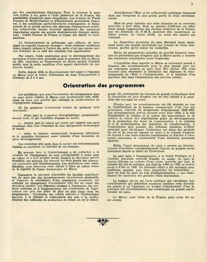 Evolution du Maroc en 1951. 05-sws12
