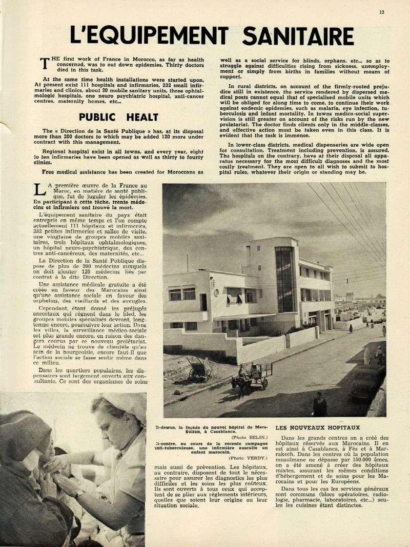 Evolution du Maroc en 1951. 13-sws11