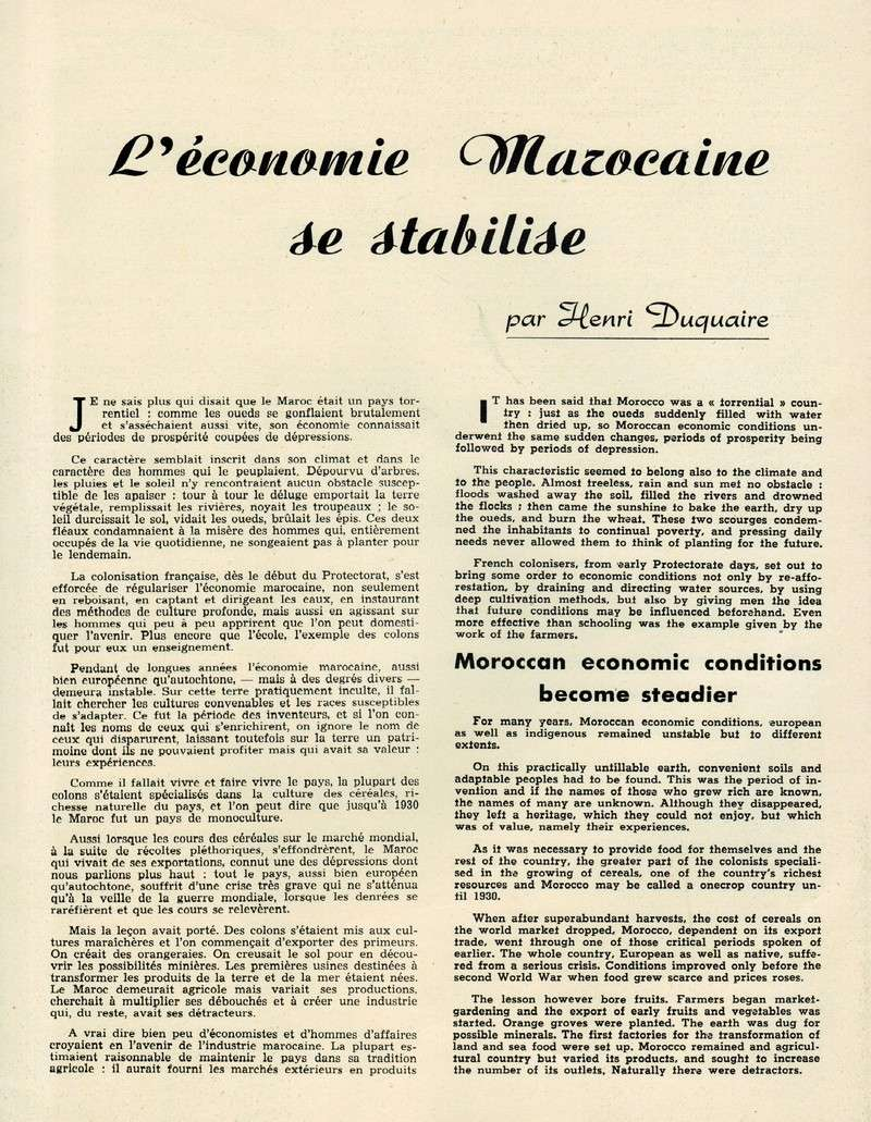 Evolution du Maroc en 1951. 15-sws11