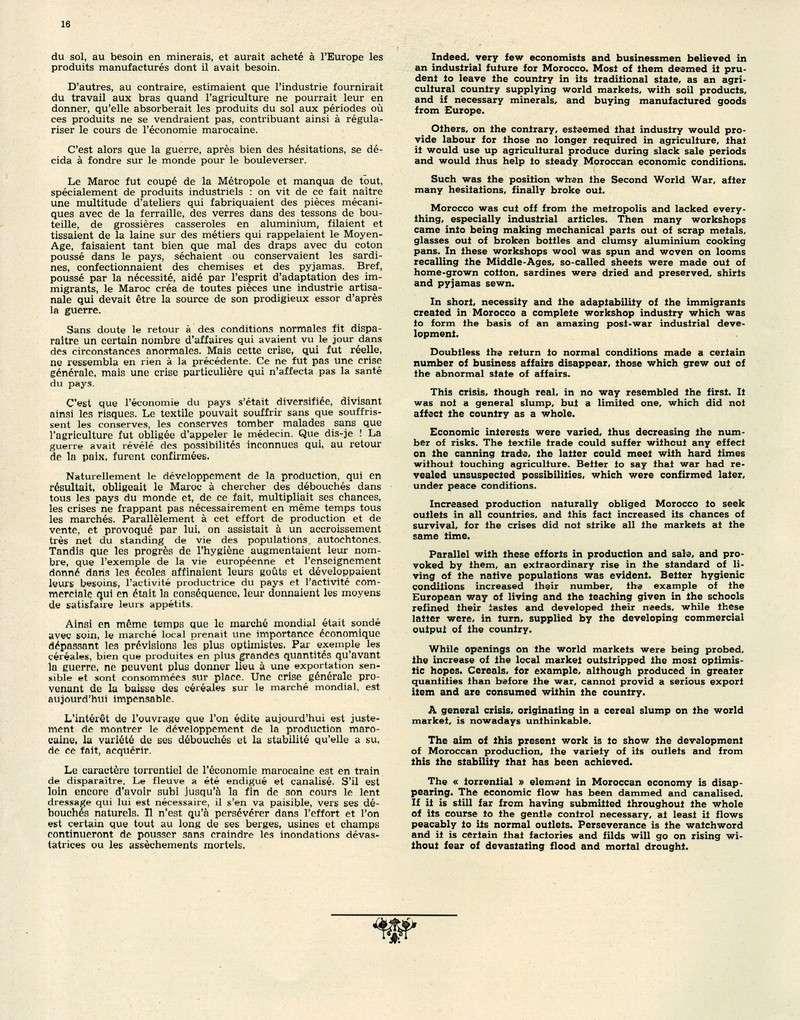 Evolution du Maroc en 1951. 16-sws11