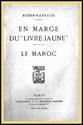 """En Marge du """"Livre Jaune"""", Le Maroc. (en suspens)"""