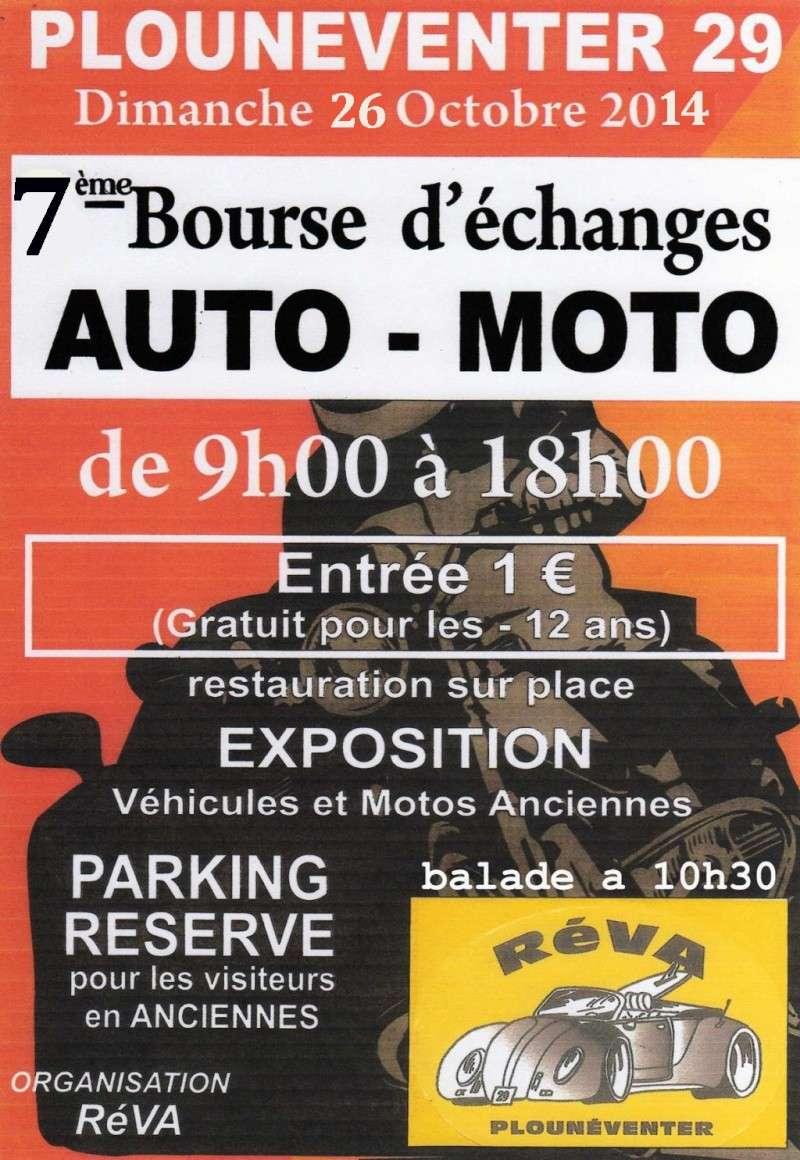 26 octobre 7ème bourse d'échange auto/moto PLOUNEVENTER 29 Affich10