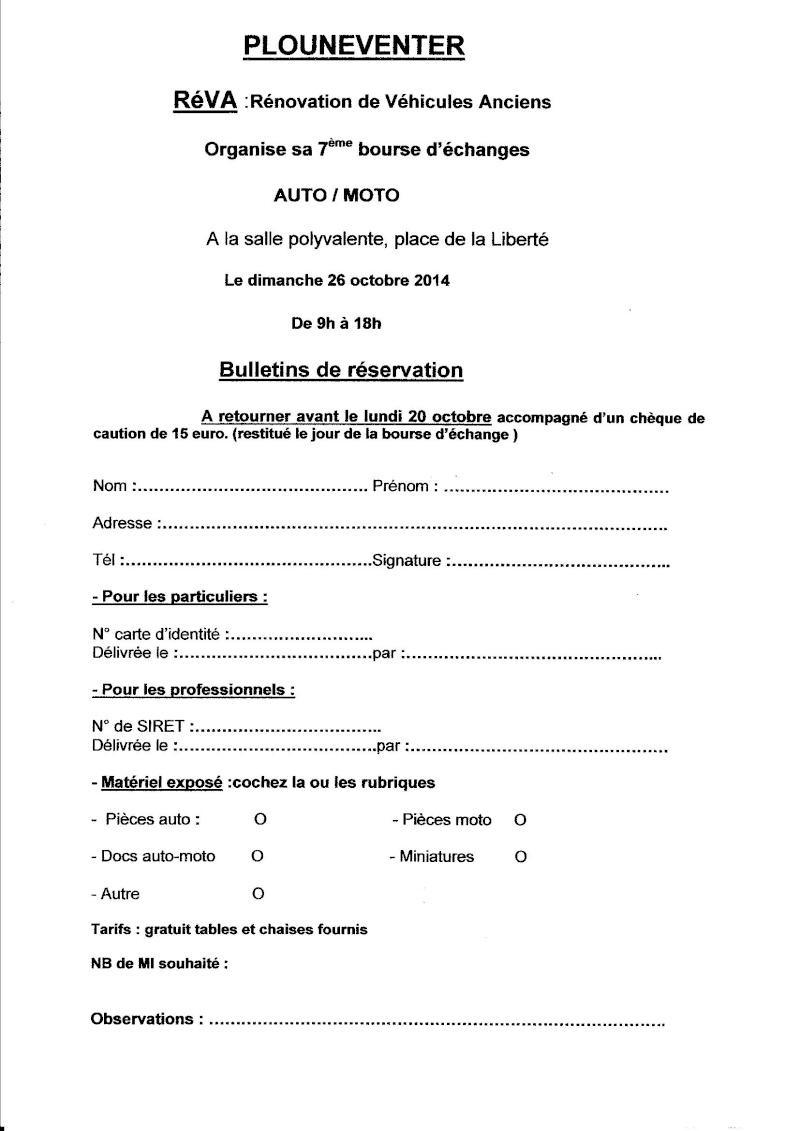 26 octobre 7ème bourse d'échange auto/moto PLOUNEVENTER 29 Inscri10