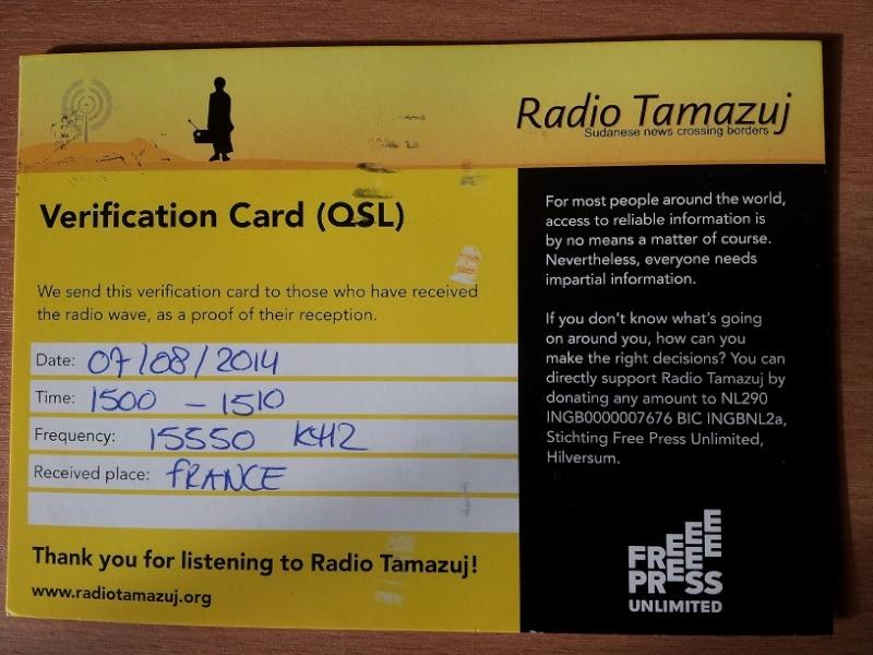 QSL de radio TAMAZUJ 20141010