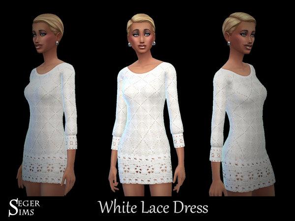 White Lace Dress by SegerSims W-600h21