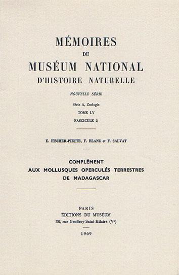 Bibliothèque de malacologie continentale Fische15