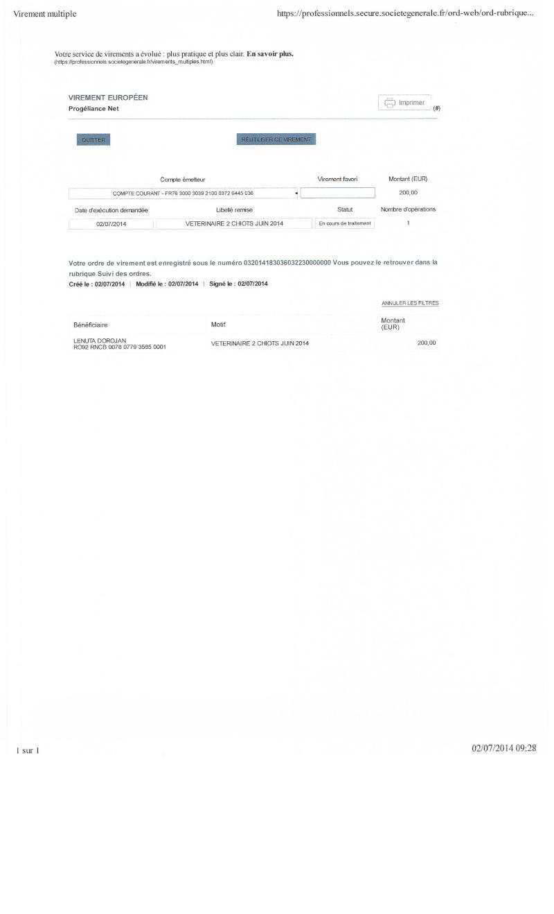 CAGNOTTE FRAIS VETERINAIRE POUR LES LOULOUS DU REFUGE 2014_010