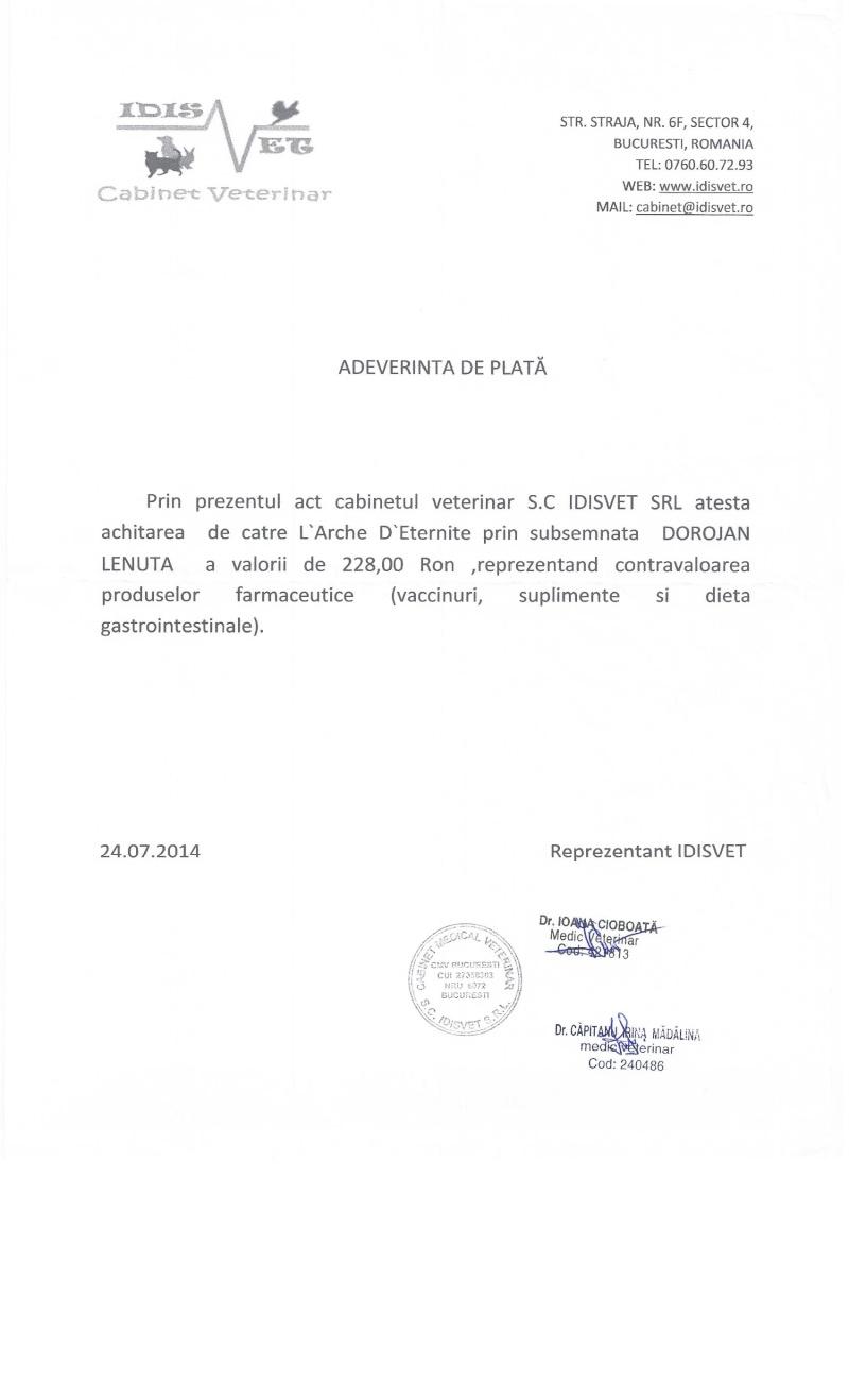 APPEL AUX DONS POUR PAYER LES FACTURES VETERINAIRES DES LOULOUS DE LENUTA - Page 3 Factur12