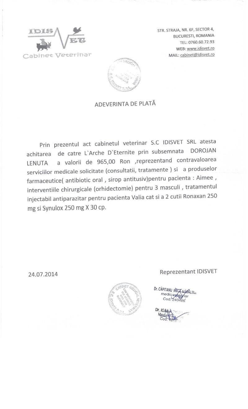 APPEL AUX DONS POUR PAYER LES FACTURES VETERINAIRES DES LOULOUS DE LENUTA - Page 3 Factur13