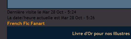 Forum actif ne s'est pas remis du changement d'heure. Demain10