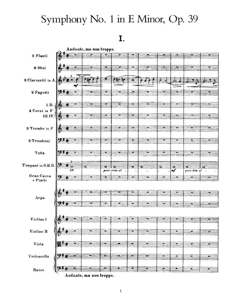 السيمفونية الاولى لسبيليوس Symphony No.1 in E  مصنف رقم 39 من اشهر اعماله  7055f410