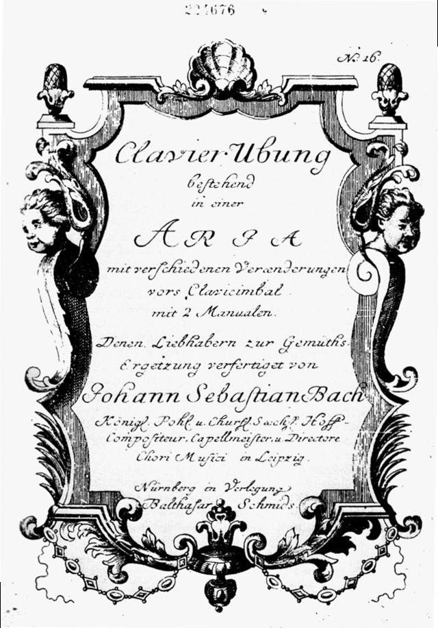 تنويعات جولدبيرج للكلافسانGoldberg Variations  من اهم اعمال باخ Goldbe10