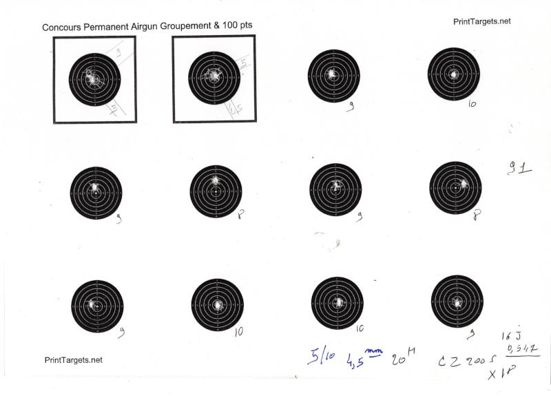 """Concours permanent bimestriel """"groupement & 100pts"""" sur cible CC A4 : Septembre Octobre 2014 - Page 3 51010"""