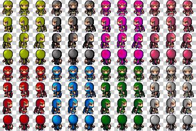 soldats et ninjas de couleur Ninja011