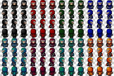 soldats et ninjas de couleur Ninjas14