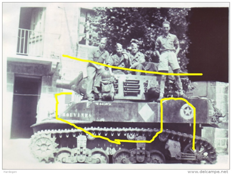 Marquages de automitrailleuses et chars du 2 RSAR Rsar10