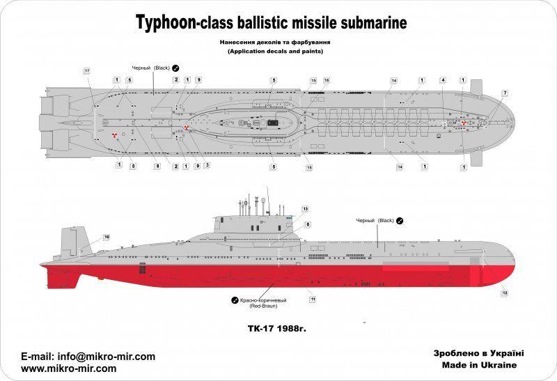 Mikromir: sous marins Russe au 1/350 _57_310