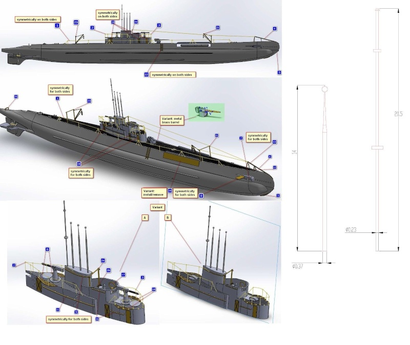 Mikromir et Wolfpack: sous marins Allemand au 1/350 _57_312