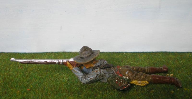 Bemalungen, Umbauten, Modellierungen - neue Cowboys für meine Dioramen 180k2d10