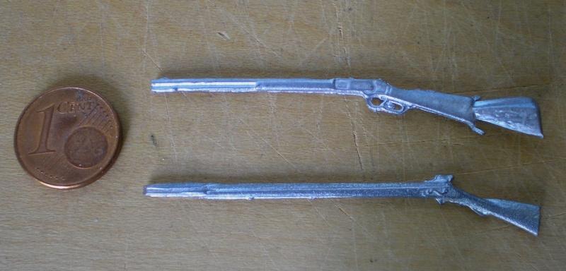 Bemalungen, Umbauten, Modellierungen - neue Cowboys für meine Dioramen 184a_z10