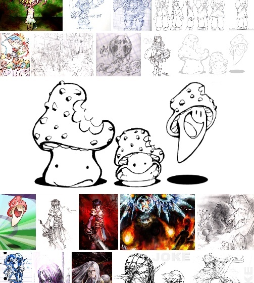 Une galerie de dessins, c'est tout beau ! Galeri11