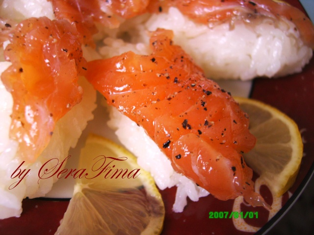 Суши с красной рыбой Aid10