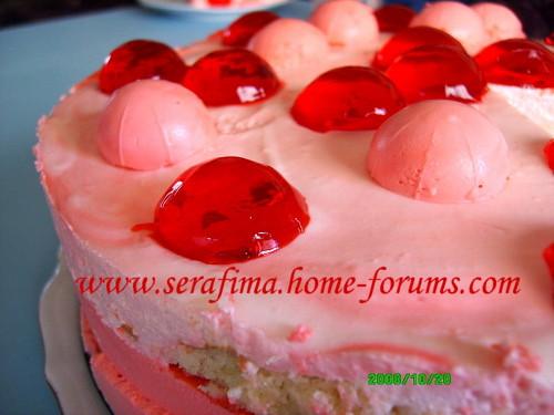Бисквитный торт с клубничным суфле Img4f910
