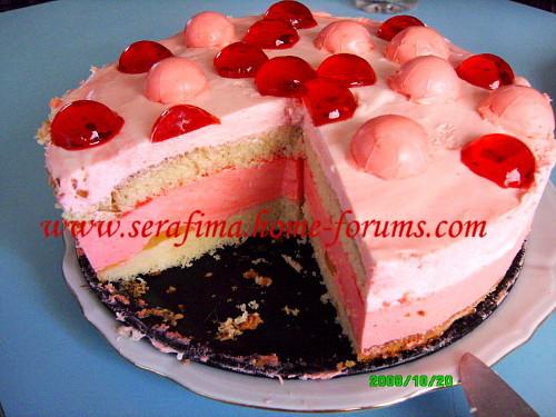 Бисквитный торт с клубничным суфле Img4f915
