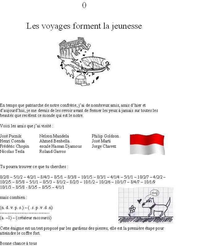 Gardiens des Pierres - généralités Enigme10