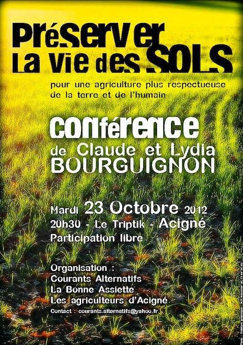 """Conférence 'préserver la vie des sols"""" Preser10"""