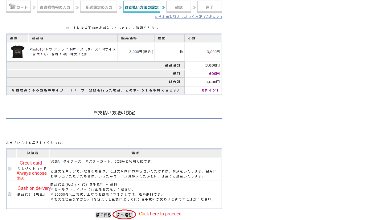 Guide to buying from Kitty Web Store using Tenso 214
