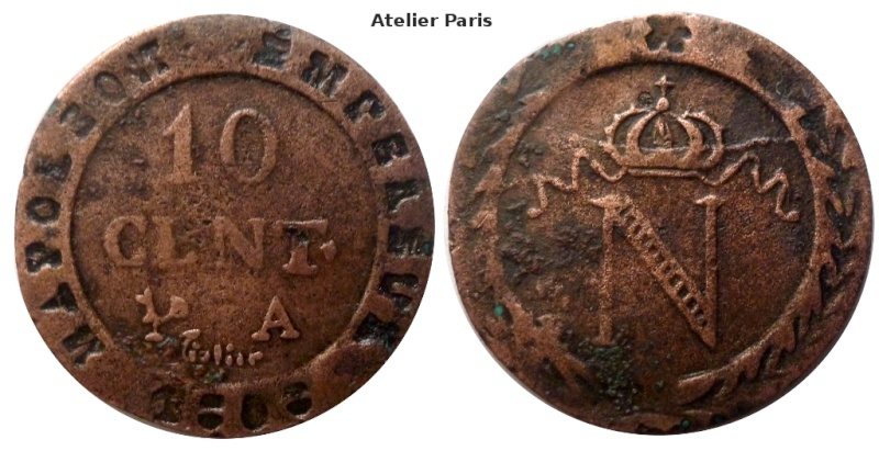 faux 10 cts Napoleon I  Faux_115