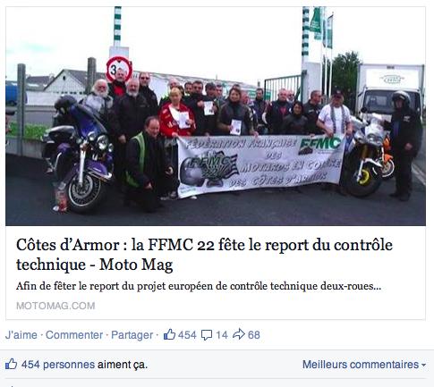 FFMC22 fête le report du contrôle technique  Captur12