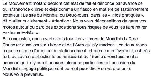 Mondial de la Moto 2108 PARIS du 04 au 14 octobre Captur72