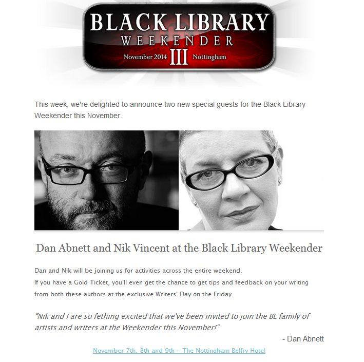 [Black Library Weekender 2014] Préparation, questions et autre Clipbo27