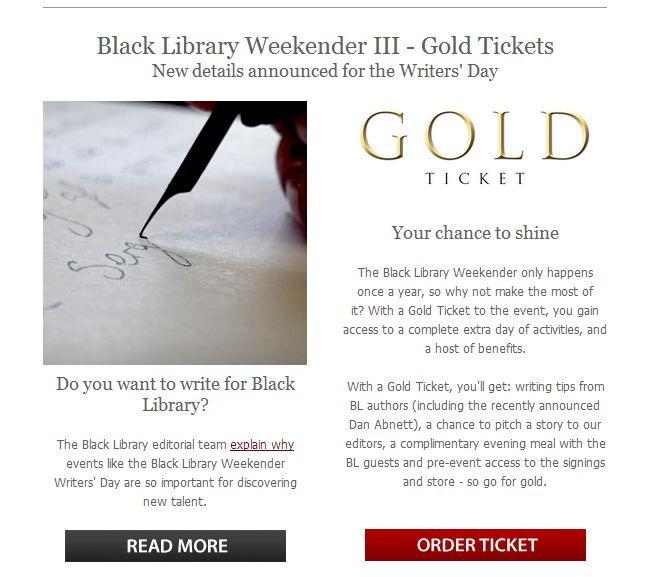 [Black Library Weekender 2014] Préparation, questions et autre Clipbo28