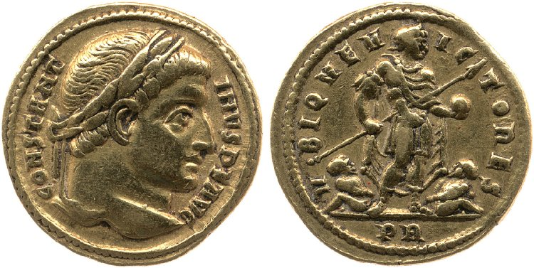 a new bronze issue for Constantine I from Trier? Vbiqve10