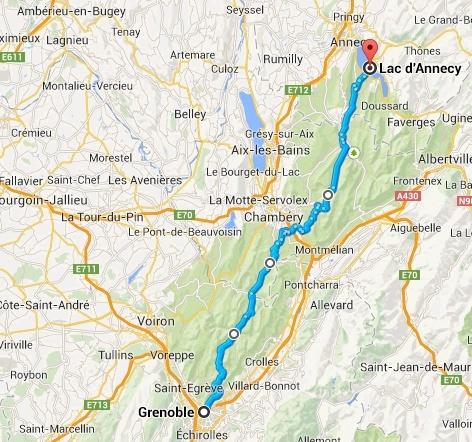 """Conseil Itinéraire Grenoble/ Yvoire """"Léman"""" Carte_11"""