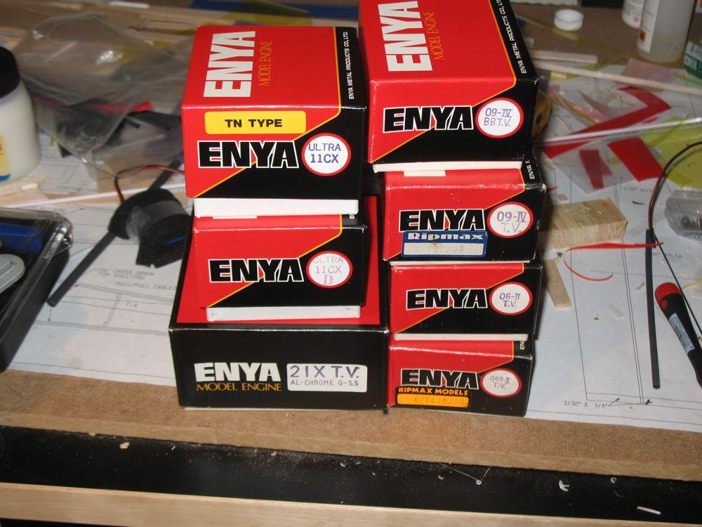 Last of the Enya Diesel engines purchased off of Enya's website. Img_1320