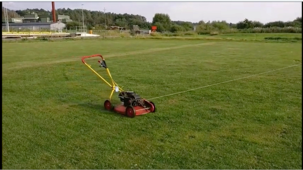 Mowing the CL field while drinking coffee :) Klippo10