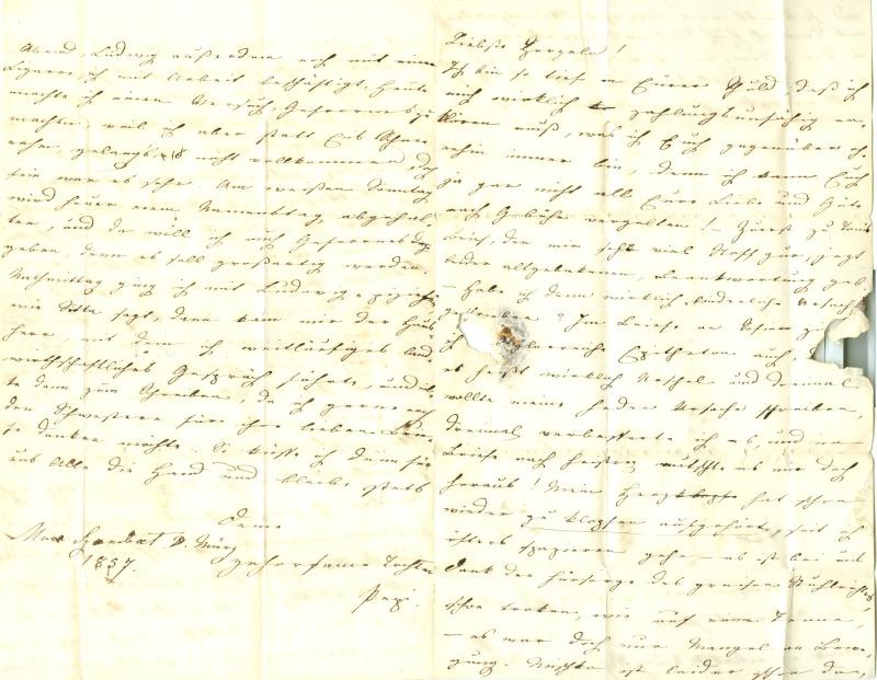 Briefe oder Karten von/an berühmte oder bekannte Personen 1850_b11