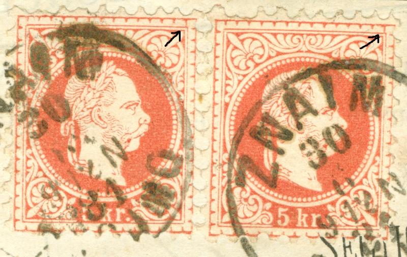 Freimarken-Ausgabe 1867 : Kopfbildnis Kaiser Franz Joseph I - Seite 7 1850_f15