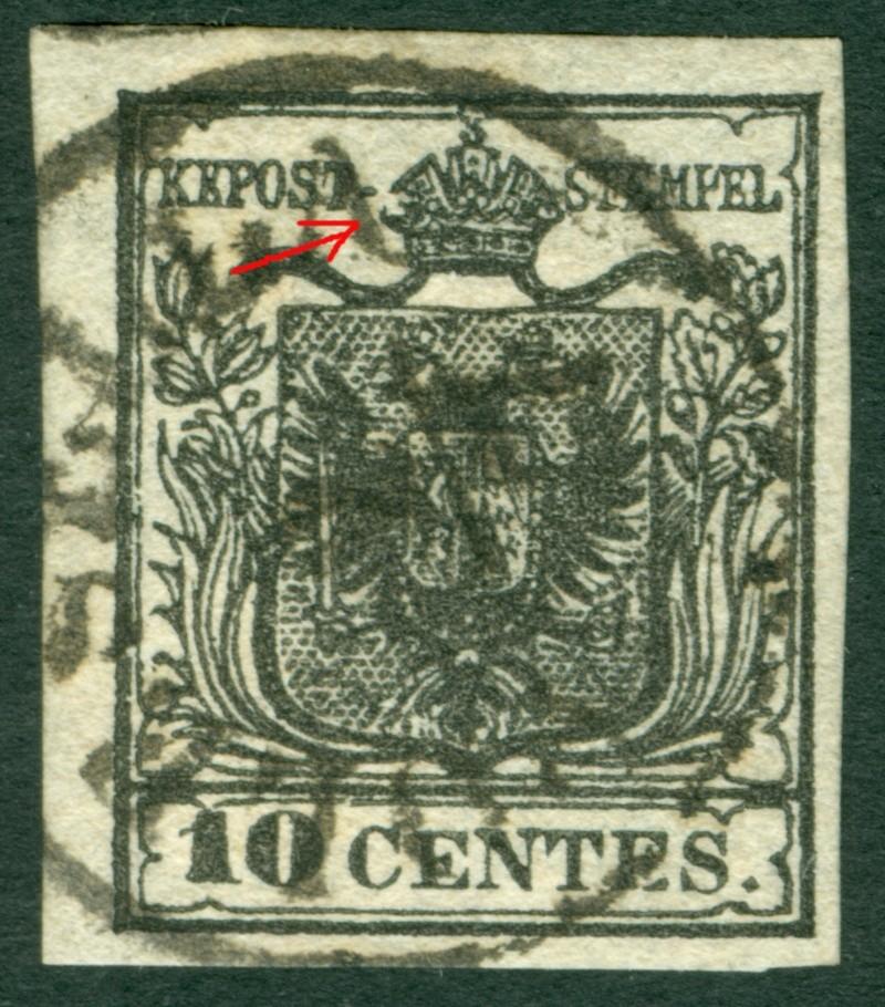 Briefmarken - Lombardei - Venetien 1850 - 1858 - Seite 4 1850_l10