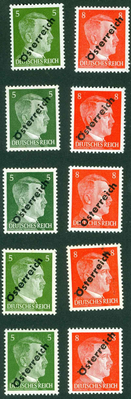 Briefmarken - I. Wiener Aushilfsausgabe, erste Ausgabe 1945_110